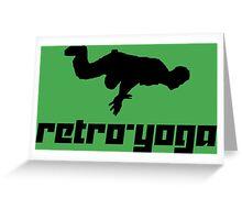 Retro-Yoga Greeting Card