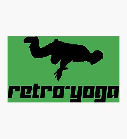 Retro-Yoga Photographic Print