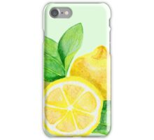 Watercolor lemon iPhone Case/Skin