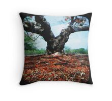 Flame Tree Throw Pillow