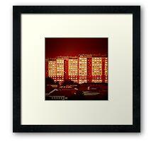 Blocks of Fire Framed Print
