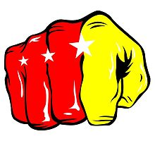 Manny Pacquiao Iconic Pound for Pound Fist Logo by DaveDadiangas