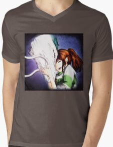 Spirited Away - Chihiro & Haku Mens V-Neck T-Shirt
