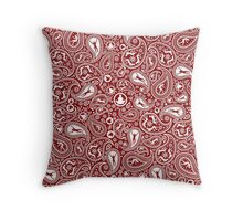 Human Paisley Throw Pillow