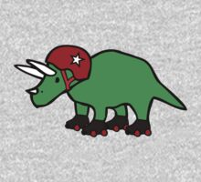 Roller Derby Triceratops One Piece - Long Sleeve