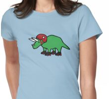 Roller Derby Triceratops Womens Fitted T-Shirt