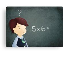 School and maths Canvas Print