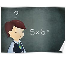 School and maths Poster