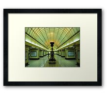 the red line Framed Print