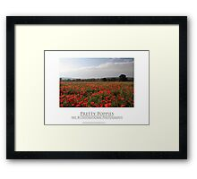 Pretty Poppies Framed Print