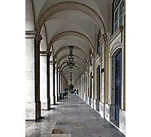 Colonnade in Lisbon Photographic Print