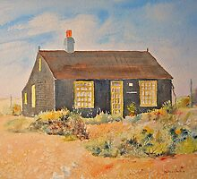 Derek Jarman's cottage Dungeness by Beatrice Cloake