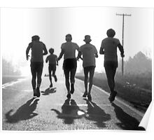 Morning run BW Poster