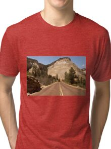 Road To Checkerboard Rock © Tri-blend T-Shirt