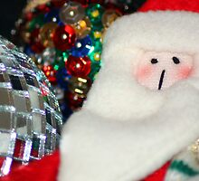 Father Christmas with Glitter Ball by Lynn Ede