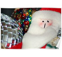 Father Christmas with Glitter Ball Poster