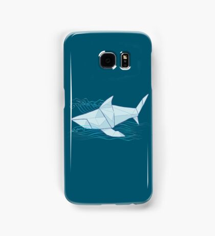Origami Chomp Chomp On Blue Samsung Galaxy Case/Skin