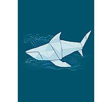 Origami Chomp Chomp On Blue Photographic Print
