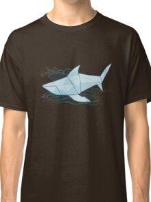 Origami Chomp Chomp On Blue Classic T-Shirt
