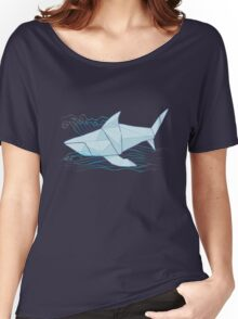 Origami Chomp Chomp On Blue Women's Relaxed Fit T-Shirt