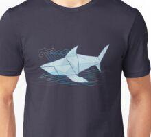 Origami Chomp Chomp On Blue Unisex T-Shirt