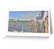 Grist Mill Southern View - Yates Millpond Greeting Card