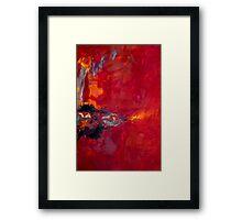 Magenta Mountain Framed Print