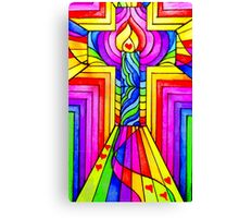 Multicoloured Christian Cross. Canvas Print