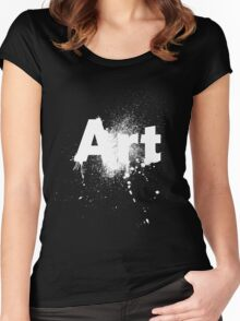 ART 2 (White) Women's Fitted Scoop T-Shirt