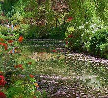 Lake in Butchart Gardens by AnnDixon