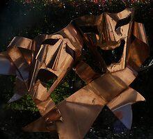 Copper Drama Mask Sculpture by gotmeamuse