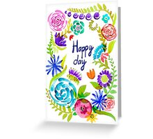 Watercolor floral01 Greeting Card