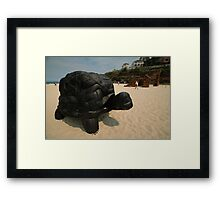 Rubber Tyre Tortoise @ Sculptures By The Sea Framed Print