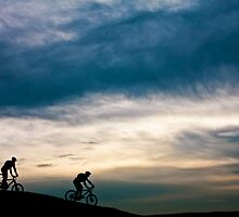 Hillside Cycling by Rachel Lilly