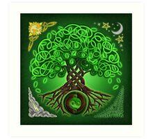 Circle Celtic Tree of Life Art Print