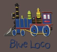 Kids Blue Loco design Baby Tee