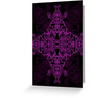 Purple Characters Greeting Card