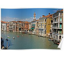 Threatening clouds approaching Venice Poster