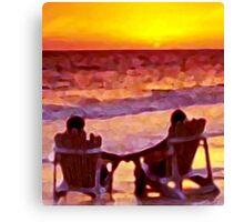 A Shared Sunset Canvas Print