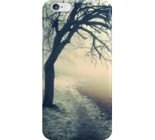 misty lonely tree  iPhone Case/Skin