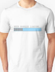 Beer goggles loading funny humor frat guy college drinking party t-shirt for guys Unisex T-Shirt