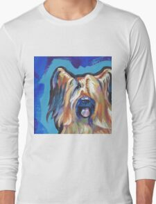 Briard Dog Bright colorful pop dog art Long Sleeve T-Shirt