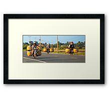 Off to market. Framed Print