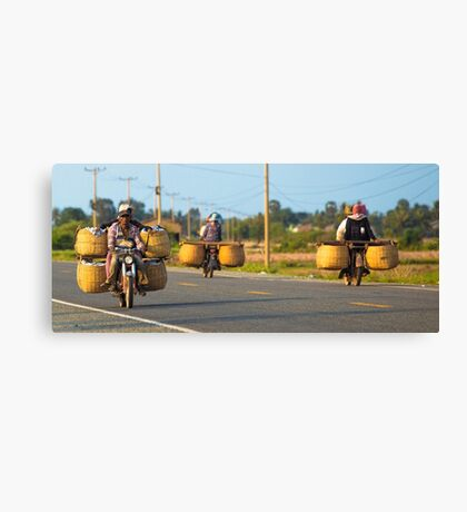 Off to market. Canvas Print