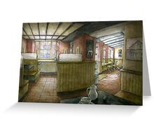 Beans coffee shop, Olney Greeting Card