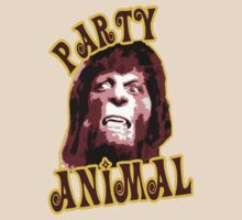 Party Animal funny teen wolf college party humor t-shirt for guys an girls by dustyvinylstore