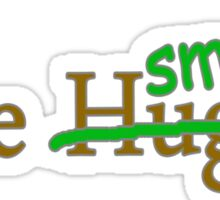Tree hugger smoker funny college hippy 420 stoner comedy t-shirt for guys and girls Sticker