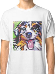 Australian shepherd Aussie Bright colorful Pop Art Classic T-Shirt