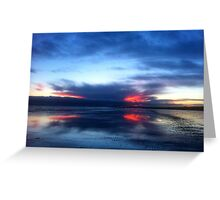 SOLD - REFLECTIONS AT SUNDOWN  - VIEW LARGE Greeting Card