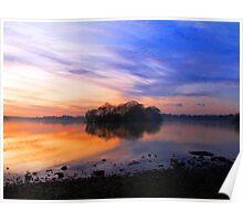 Sunset over Hornsea Mere - 1 Poster